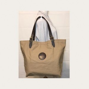 Duluth Pack Market Tote Leather Straps Canvas Body